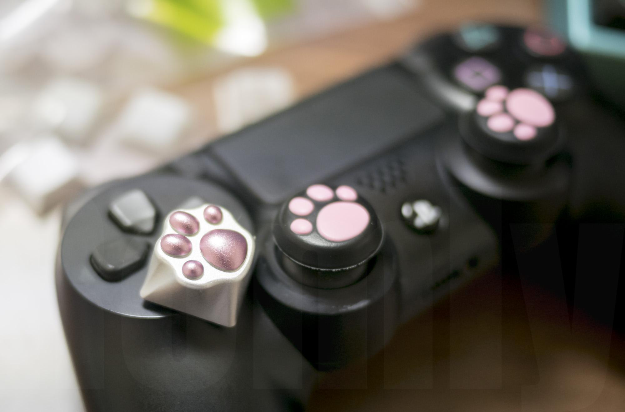 Kitty Paw Keycap with PS4 アナログスティックカバー ねこにゃん