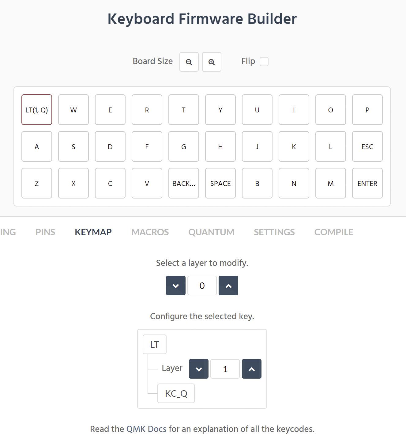 Keyboard Firmware Builder KEYMAP