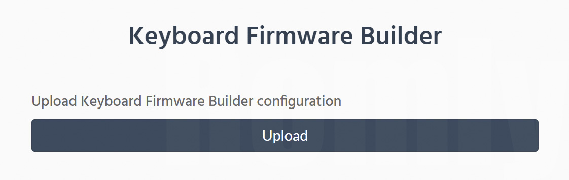 Keyboard Firmware Builder Upload