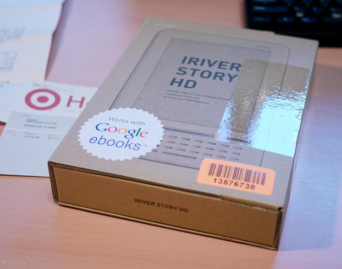 iriver Story HD パッケージ