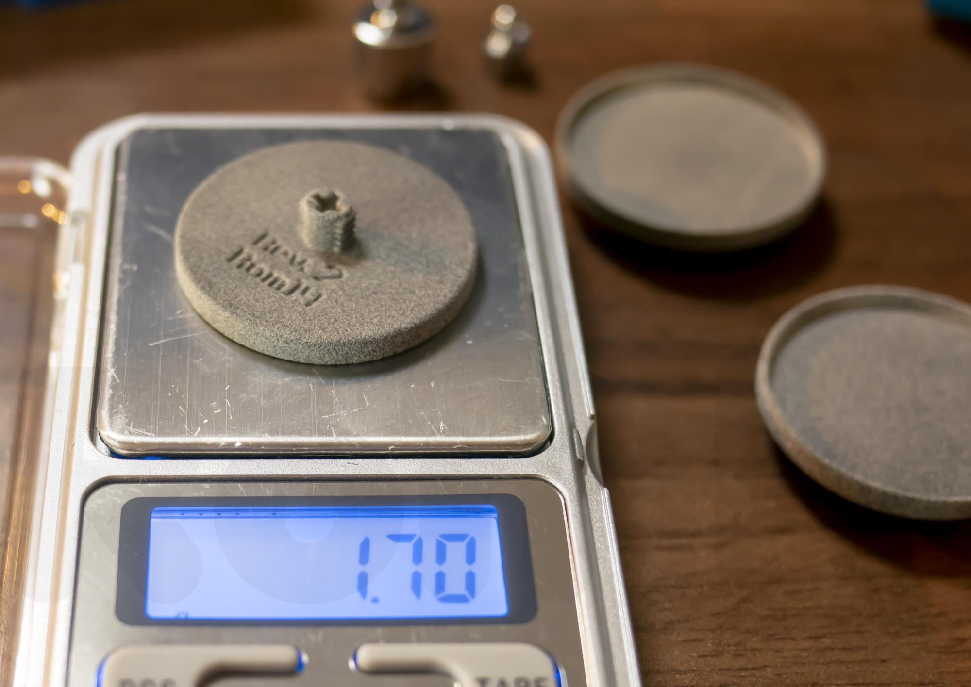 キーボード自由研究 天秤キーキャップの重さ