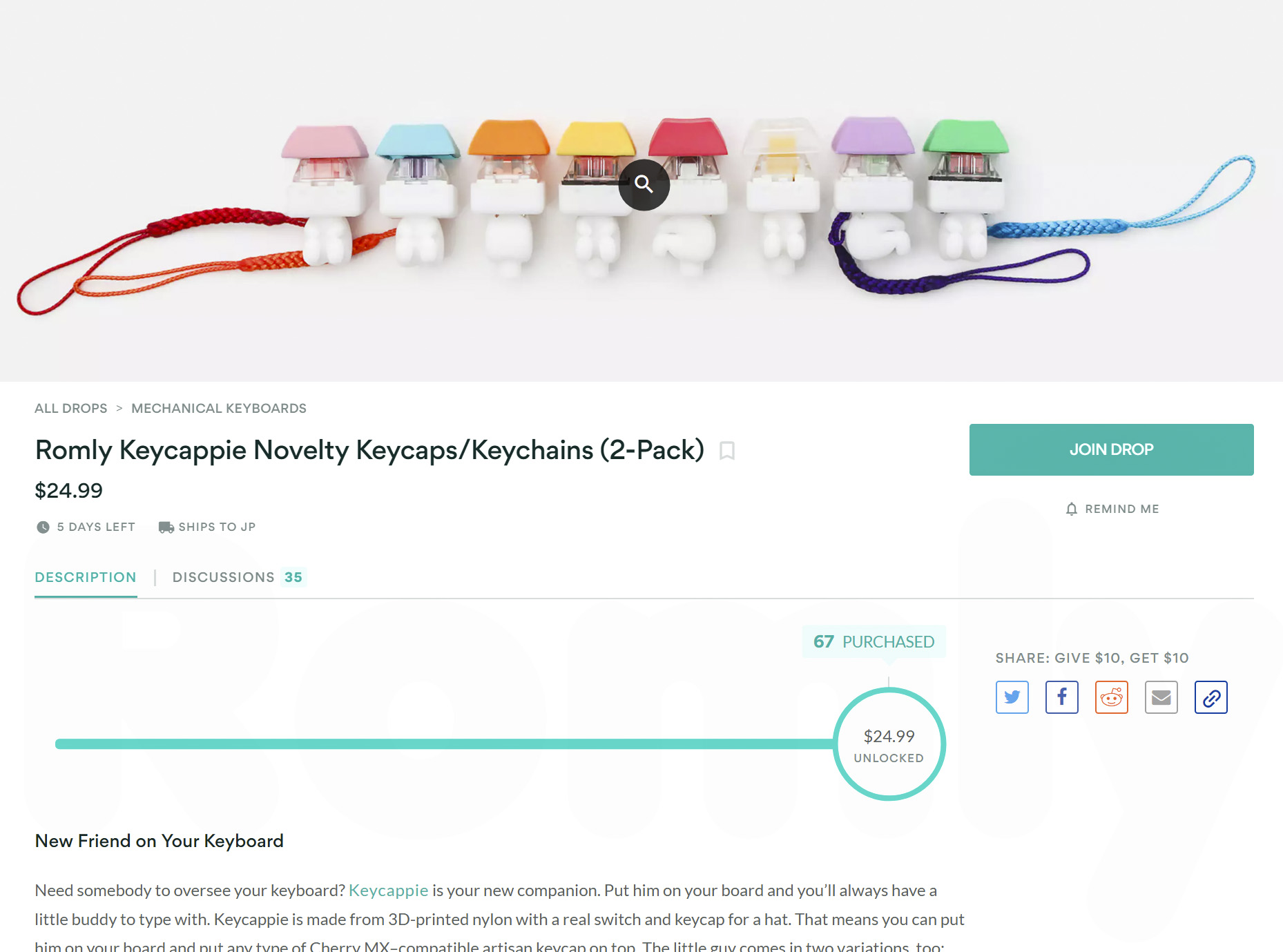 Keycappie on Massdrop