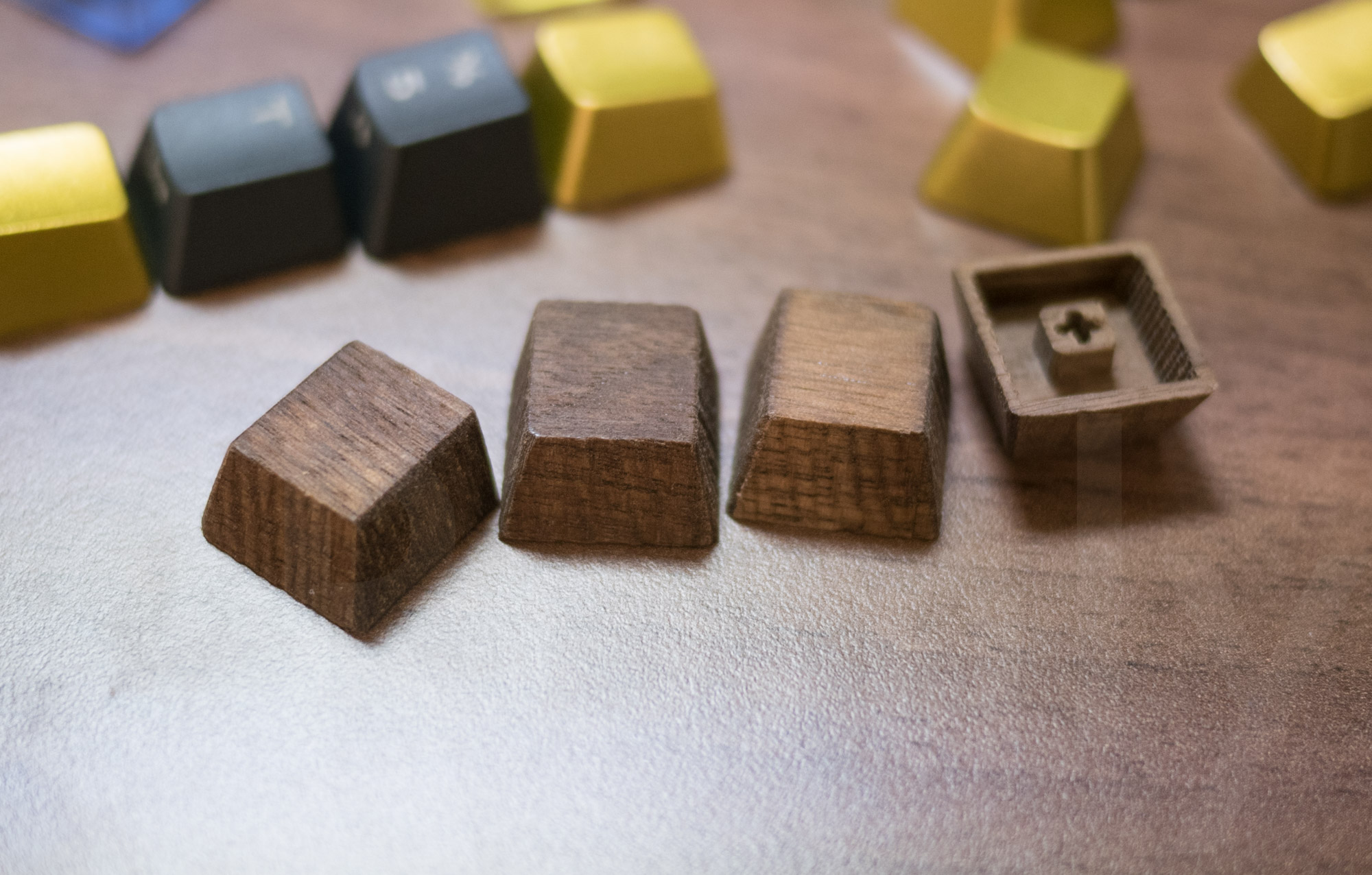 Mechanicallee Keyboards Wood Keycaps