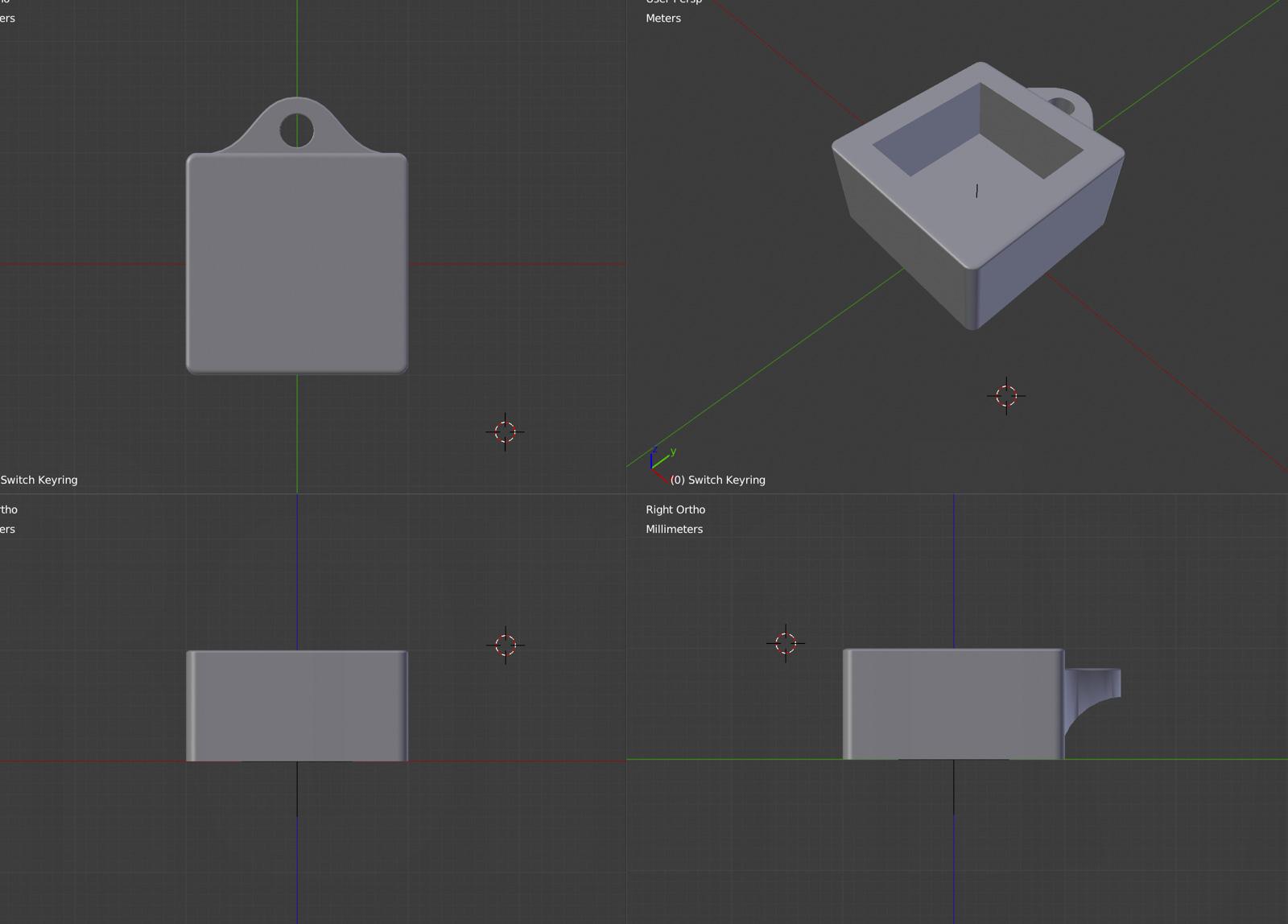 作成したキーチェーンモデル