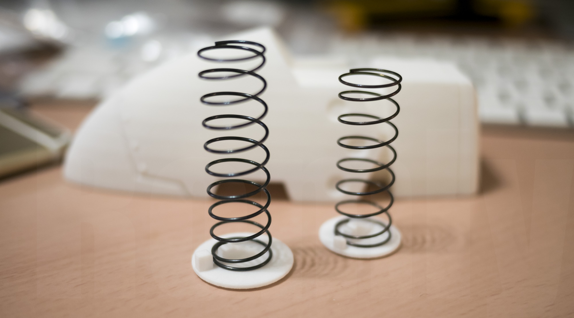 ミミノアーレ 3Dプリントモデル バネ取り付け