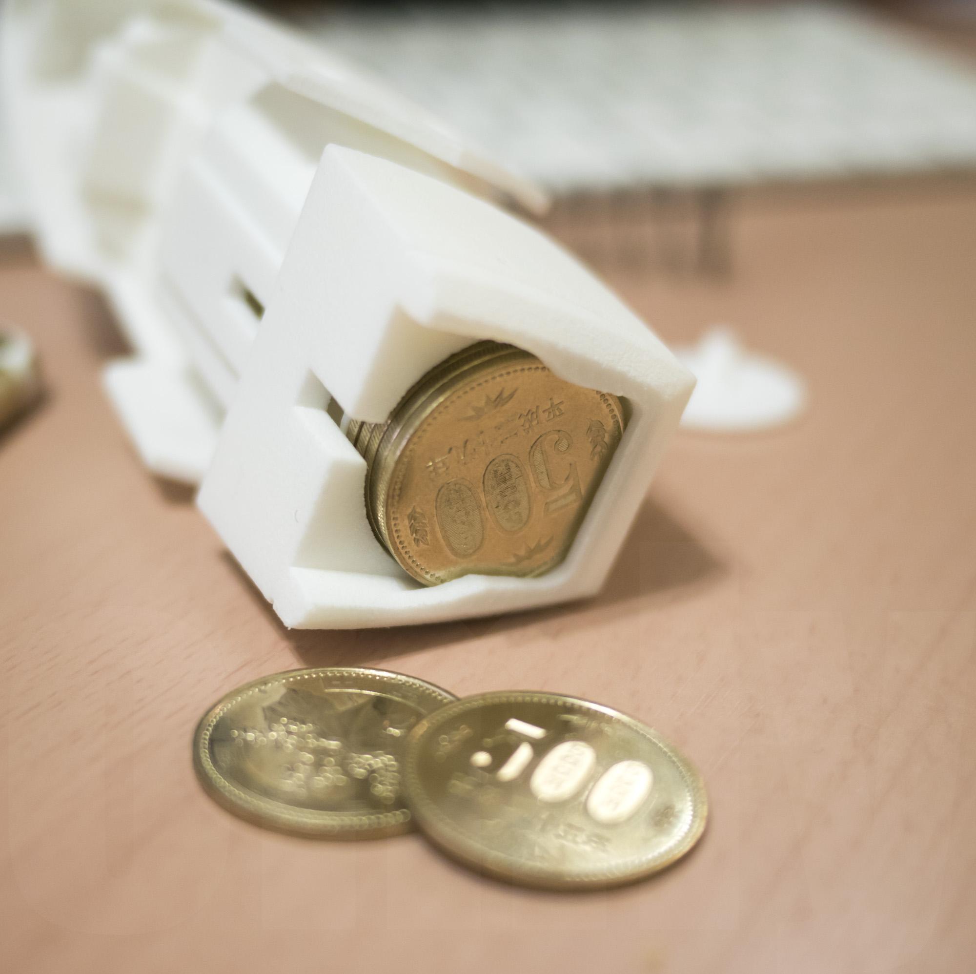 ミミノアーレ 3Dプリントモデル コインシリンダー 500円部分