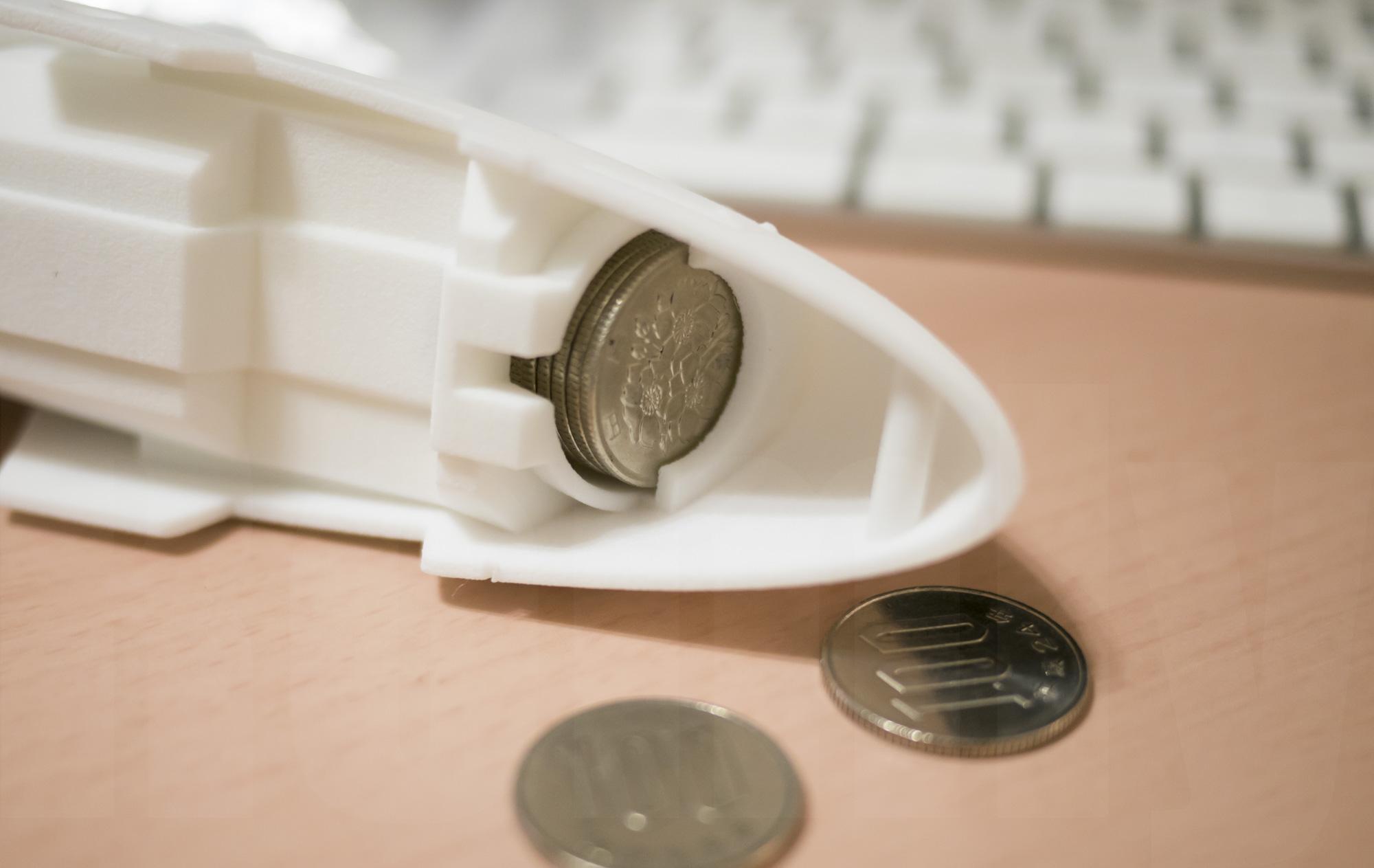 ミミノアーレ 3Dプリントモデル コインシリンダー 100円部分