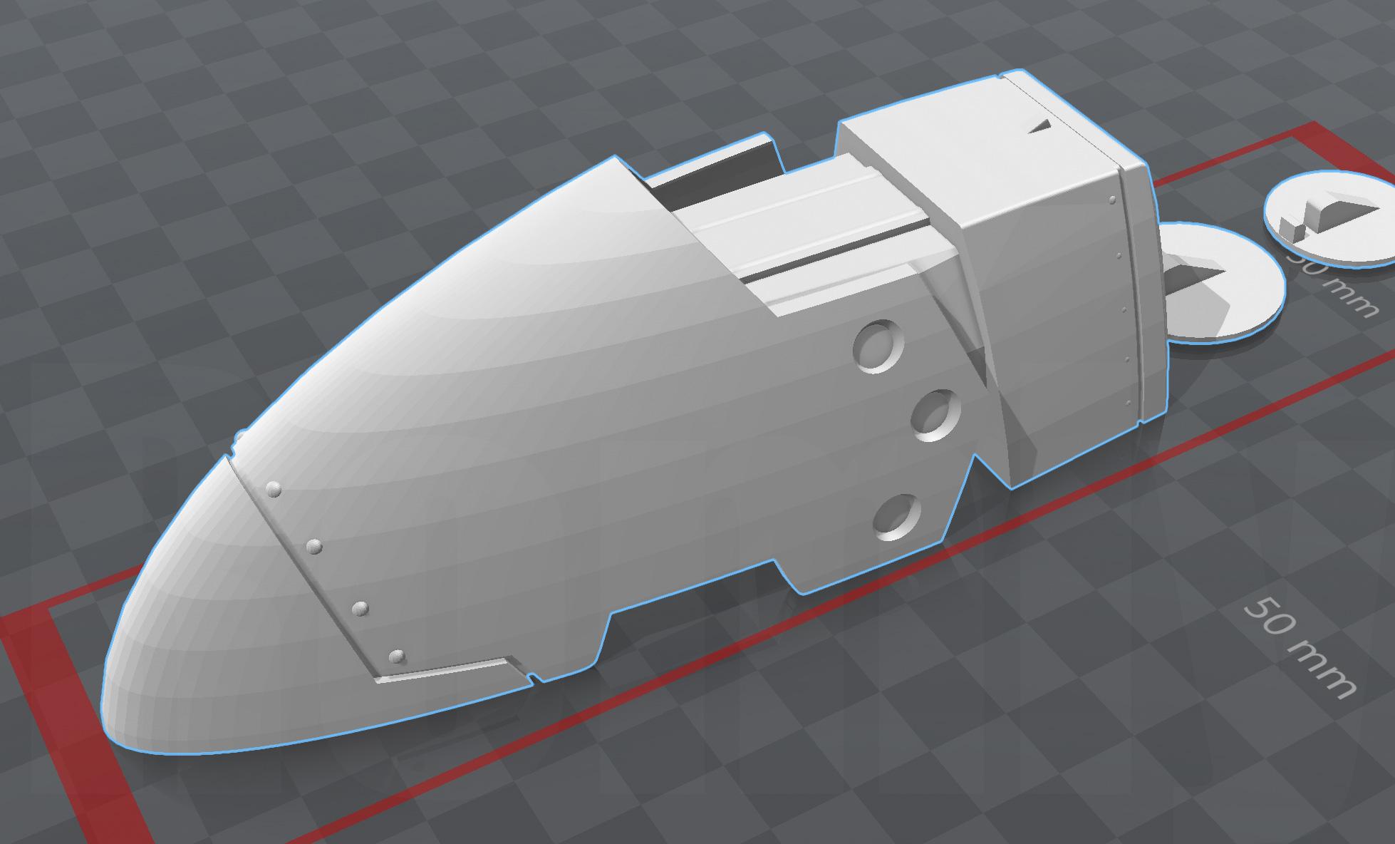 ミミノアーレ型コインシリンダー 3Dモデル