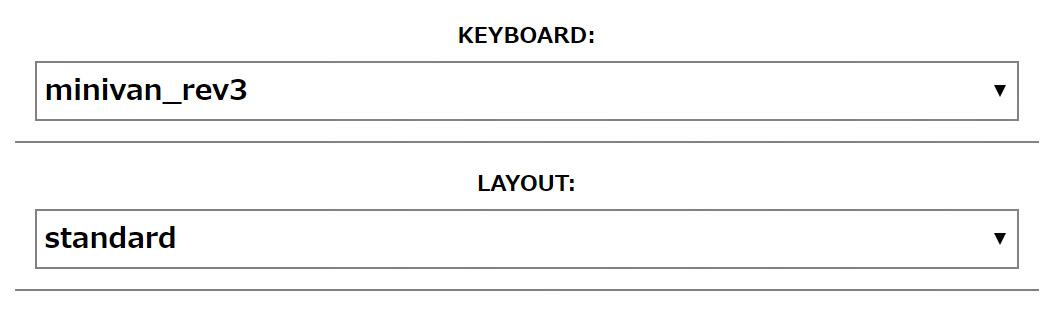 TMK Configurator Keyboard and Layout for MiniVan