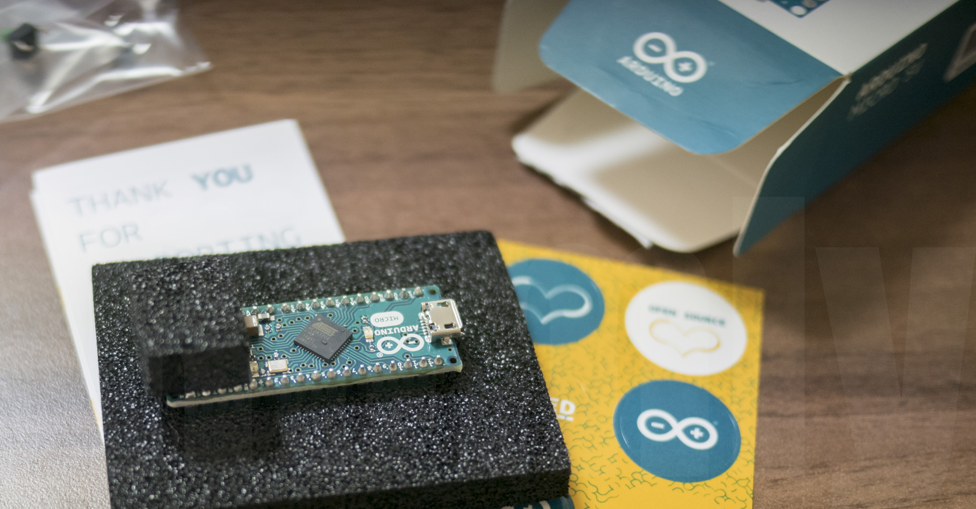 Unboxing Arduino Micro