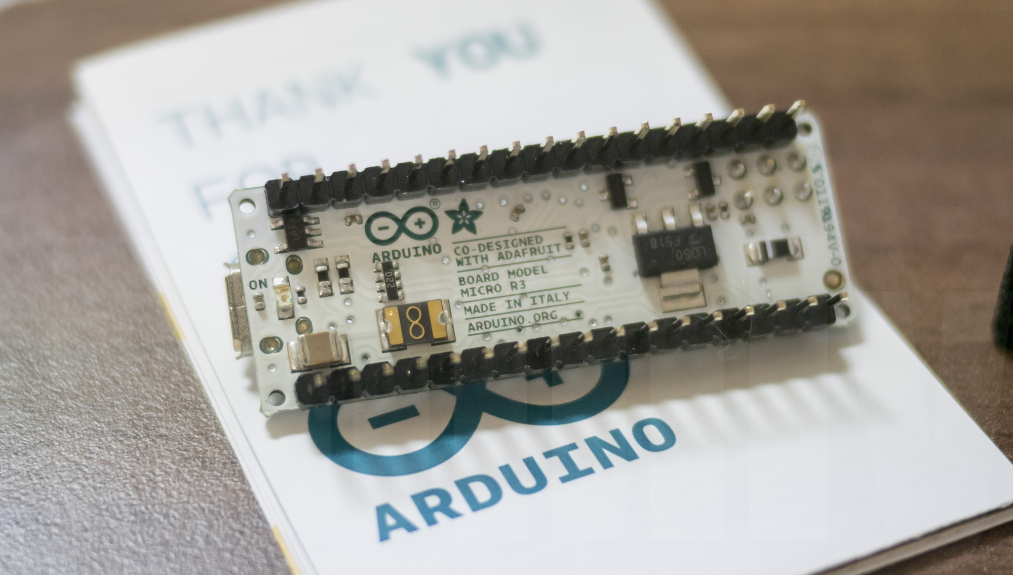 Arduino Micro - back side