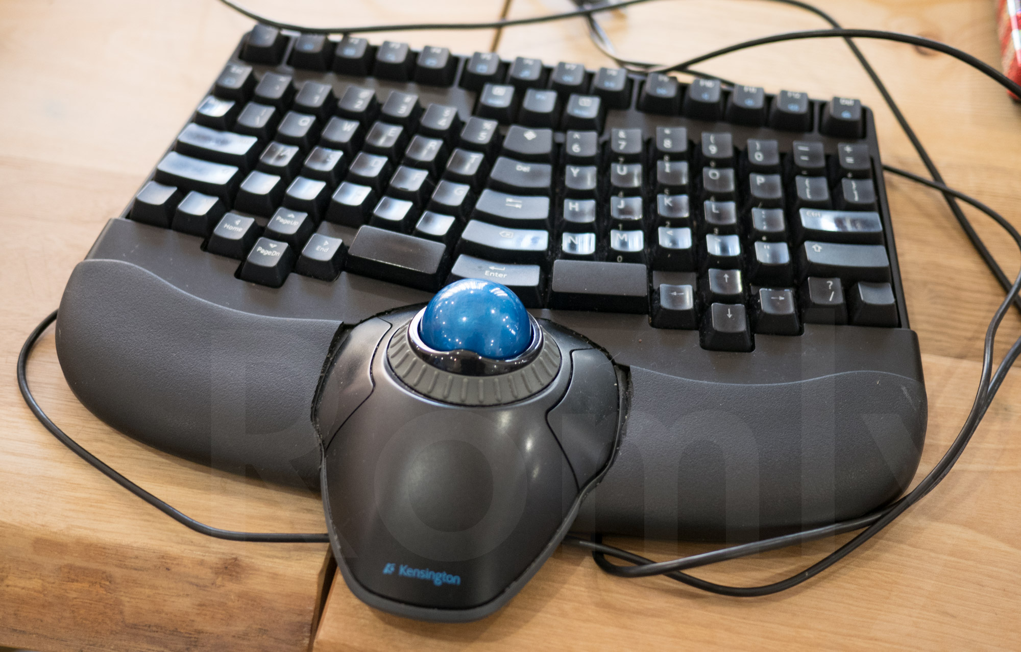 Truly Ergonomic combined with OrbitTrackball