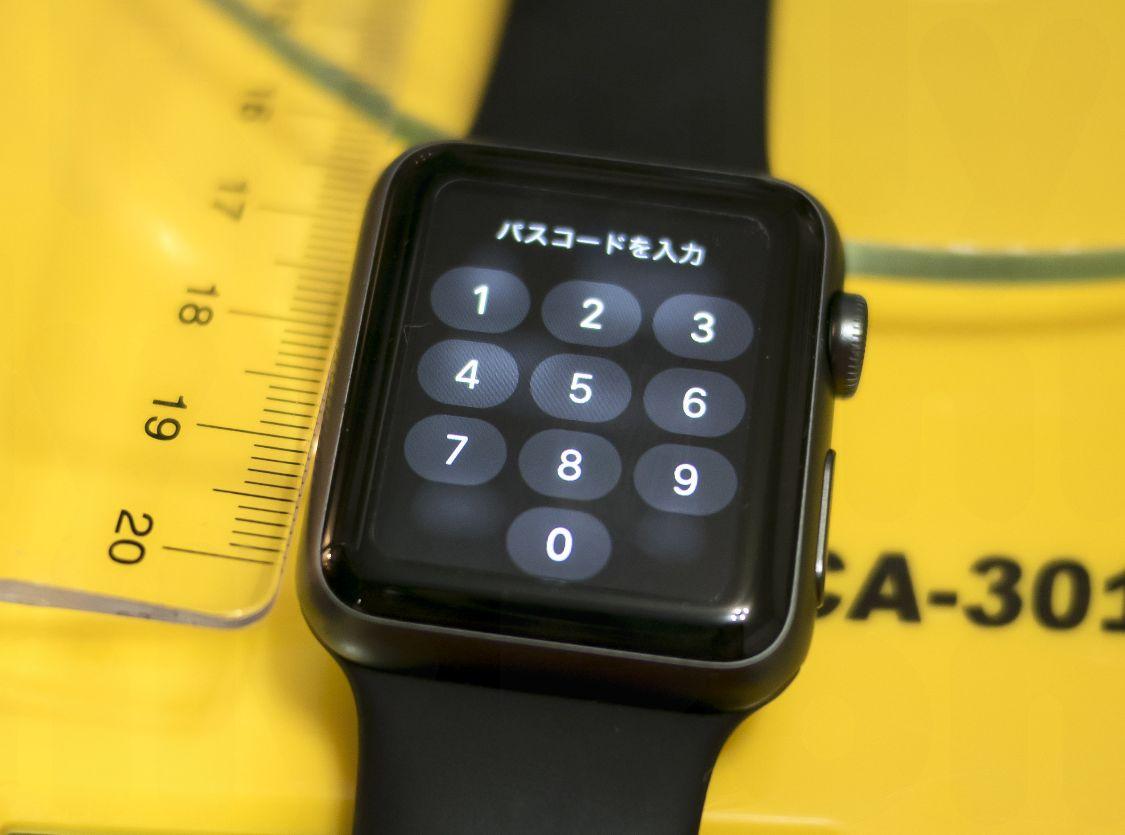 Apple Watchのパスコード入力画面