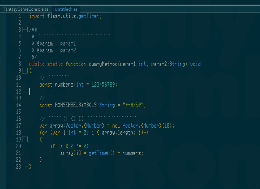 N-Font FlashDevelop Sample