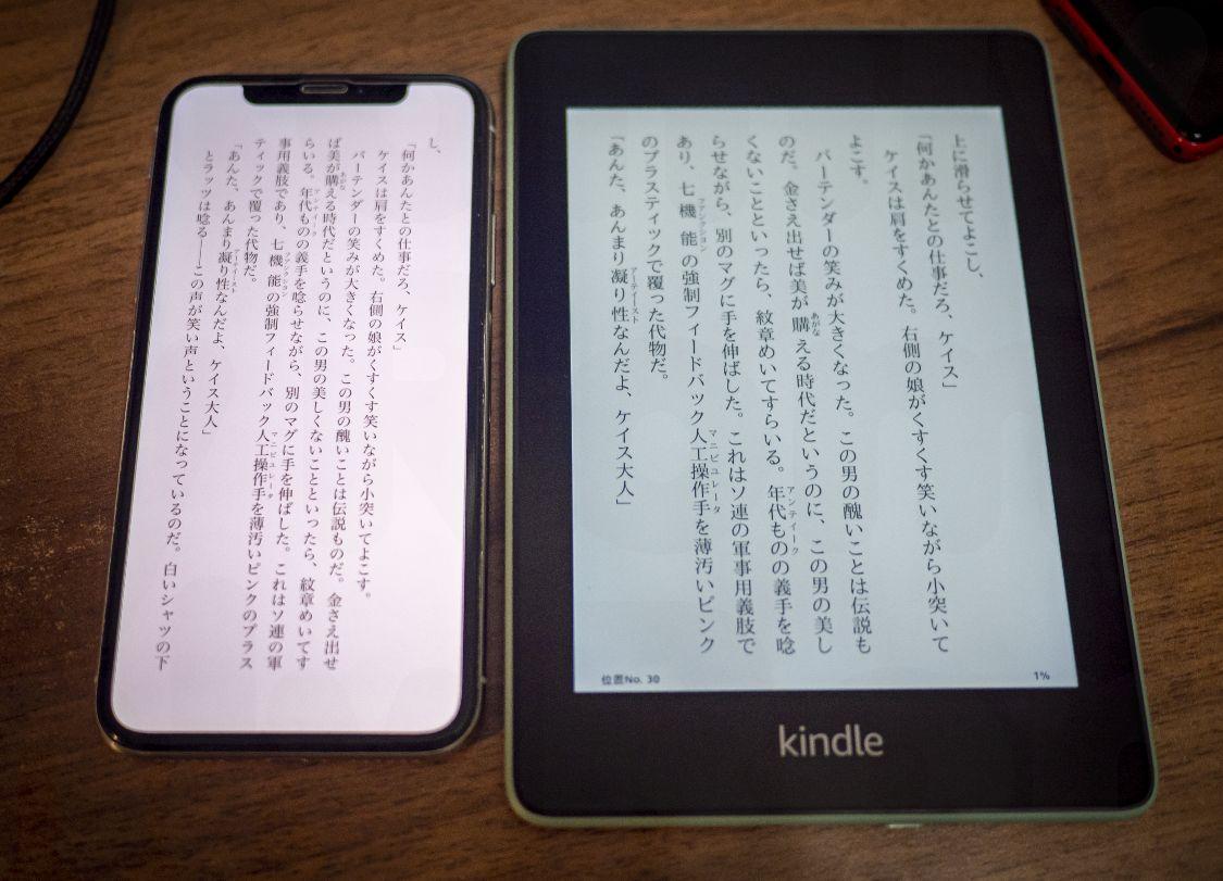 Kindle Paperwhite Sage - 画面サイズ