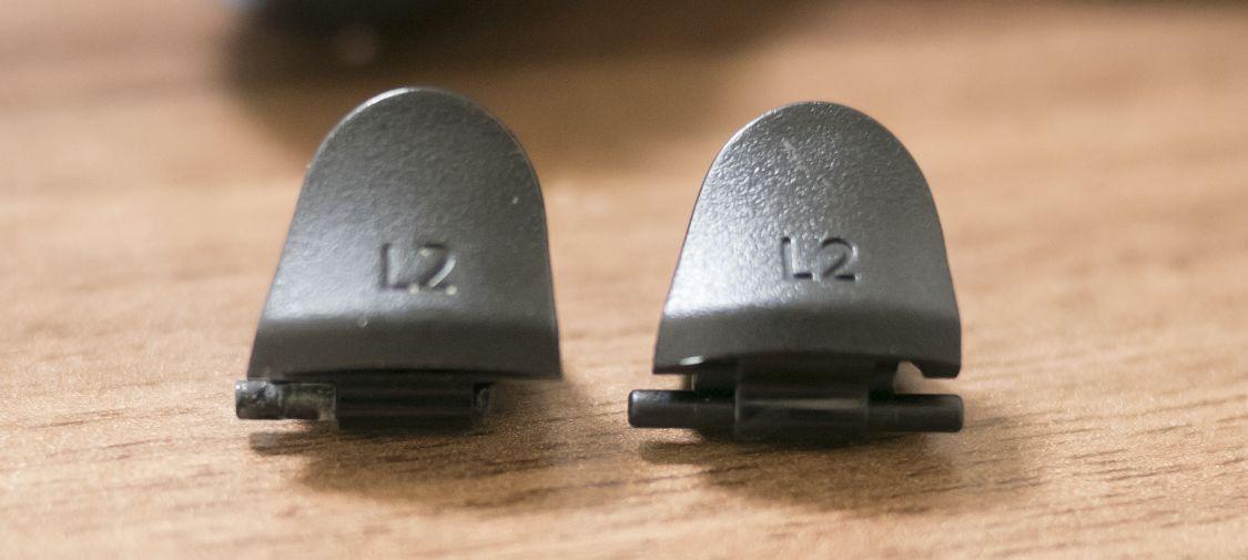 古いLRボタンと、交換用LRボタン1