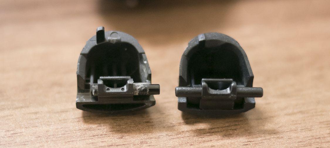 古いLRボタンと、交換用LRボタン3