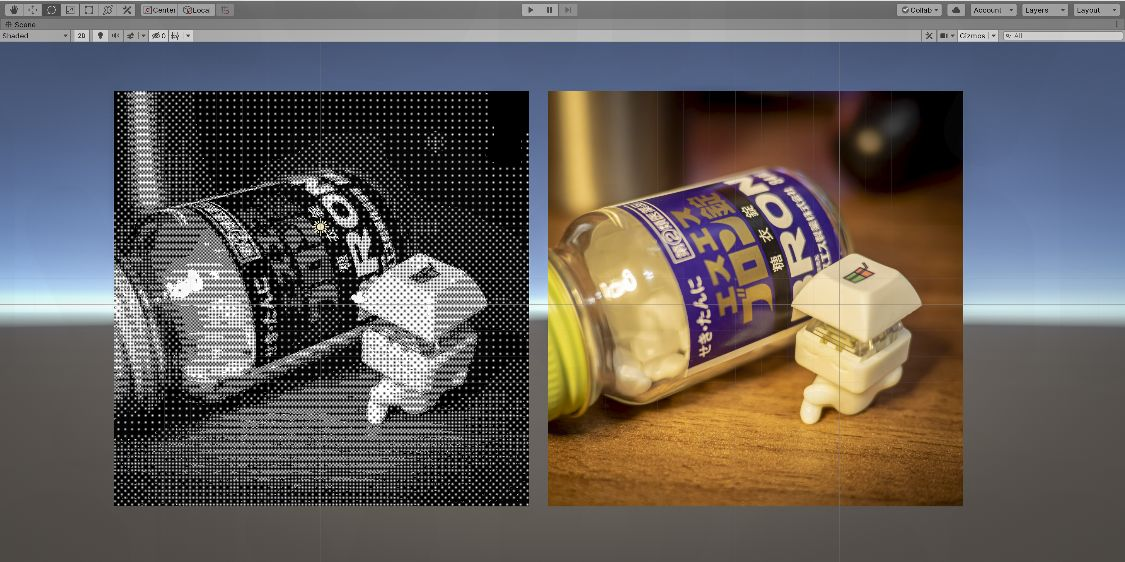 Unity ShaderGraph Bayer-dithering Keycappie