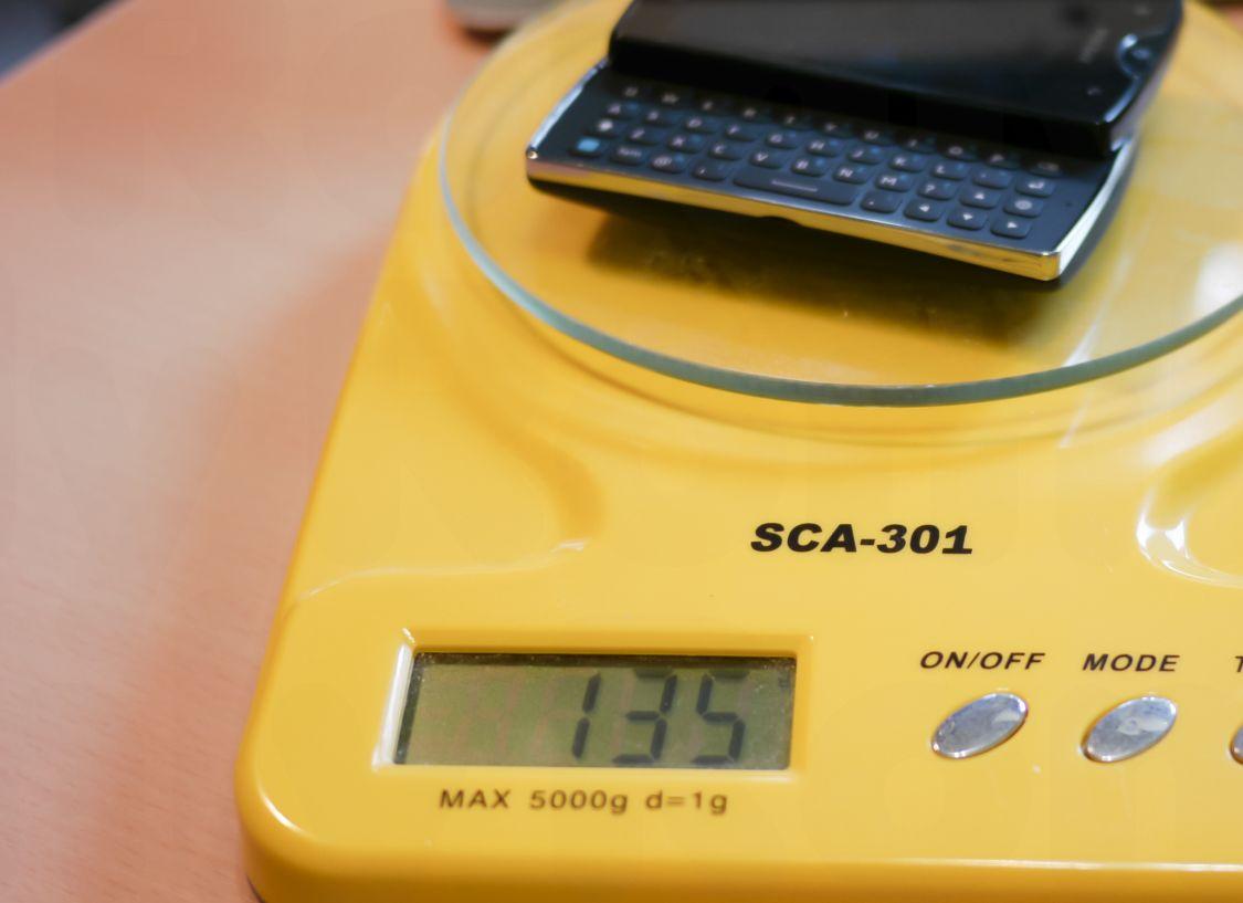 Xperia Mini Pro 本体重量